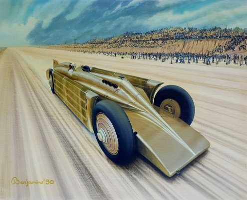 "GOLDEN ARROW, 24"" x 30"" x 1"" Enamel paint on canvas"
